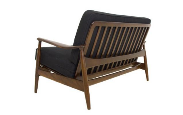 1950s DANISH OAK RECLINING 2 SEAT SOFA