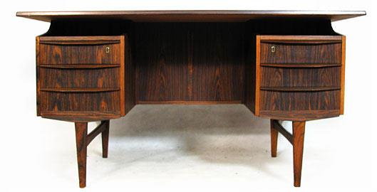 Brazilian Rosewood Dual Sided Desk