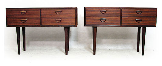 Two Rio Rosewood Side Cabinets Model No.40
