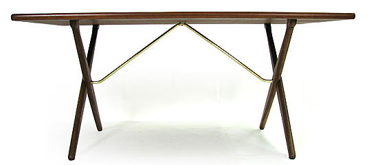 Teak - Oak Crossed Leg Table Model