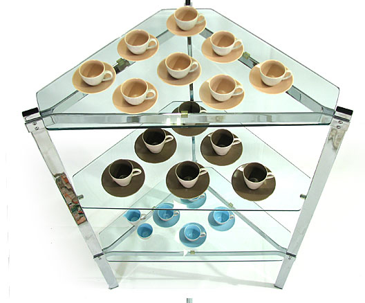 Twin Tone Espresso Cups And Saucers