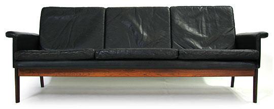 Leather - Rosewood Sofa