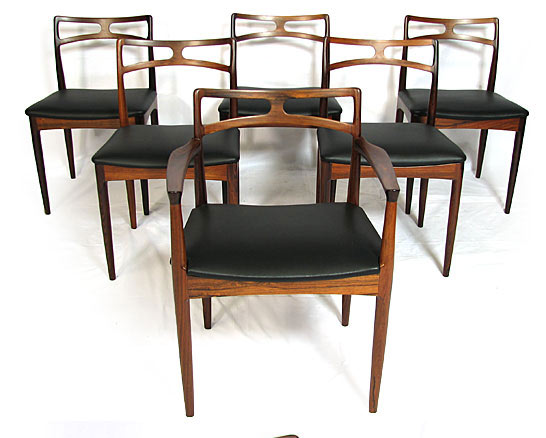Leather - Rosewood Dining Chairs Model