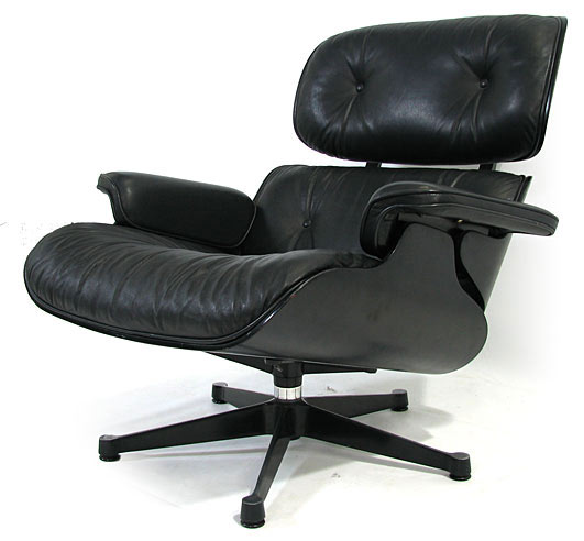 Leather Eames Lounge Chair Model 670