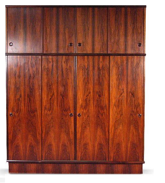 Large Brazilian Rosewood Wardrobe