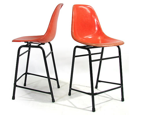 Original Eames Fiberglass Stools