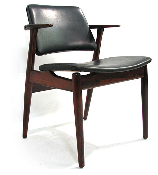 Leather - Rosewood Desk Chair