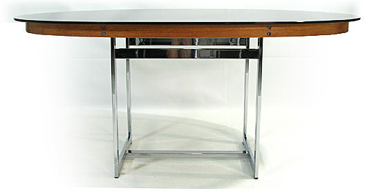 Smoked Glass - Chrome Dining Table