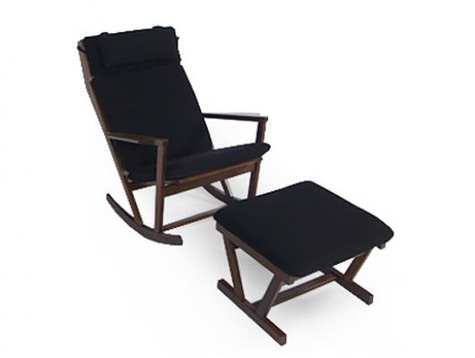Poul Volther Rocking Chair & Footstool