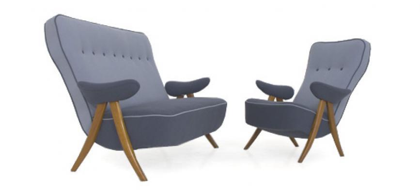 Theo Ruth 1950s 2 Seat Sofa