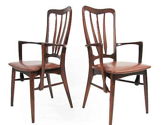 6 Ingrid Rosewood Dining Chairs