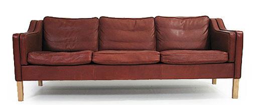 Danish Three Person Sofa