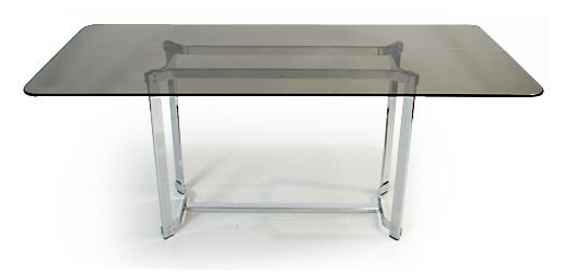 Chrome - Glass Dining Table