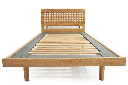 Single Oak - Rattan Bed
