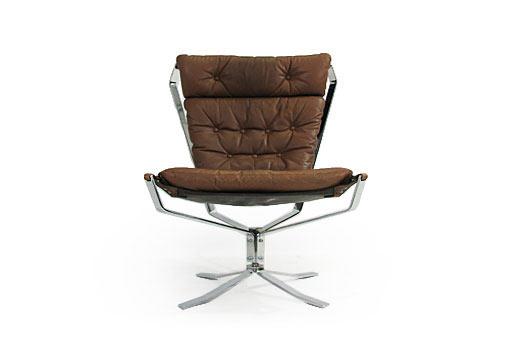Swivel High Back Chromed Falcon Chair