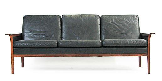 Rosewood - Leather Sofa