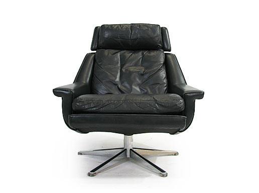 Full Goose - Leather Swivel Chair Model 802