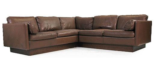 Danish Leather - Goose Down Corner Sofa