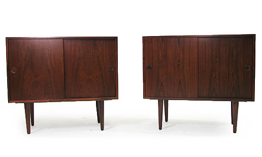 A Pair Of Rosewood Cabinets 2