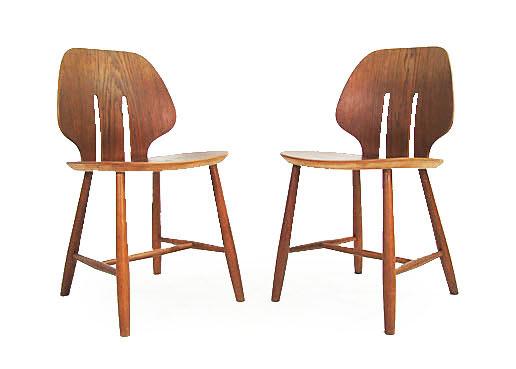 4 Oak Chairs Model J67