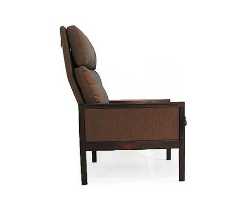 Hans Olsen High Back Rosewood Chair Model 2191