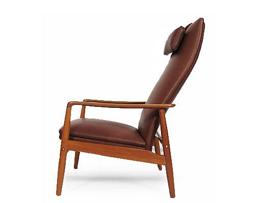 Teak - Leather Lounge Chair