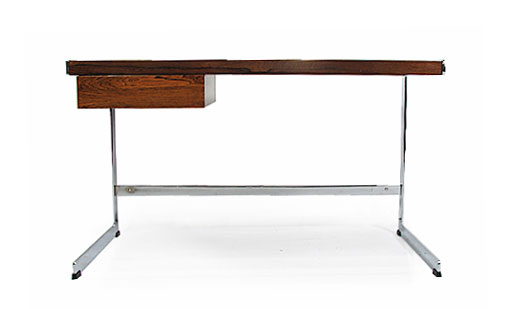 Rosewood and Chrome Merrow Desk