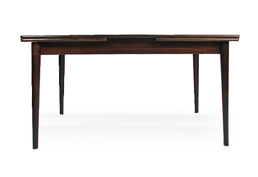 Extending Rectangle Rosewood Dining Table Model 145 11
