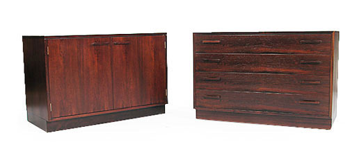 Hi-fi Cabinet And Matching Chest Of Drawers