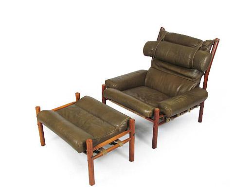 Inka Chair And Ottoman