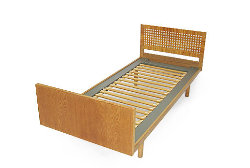 Oak - Rattan Hans Wegner Single Beds