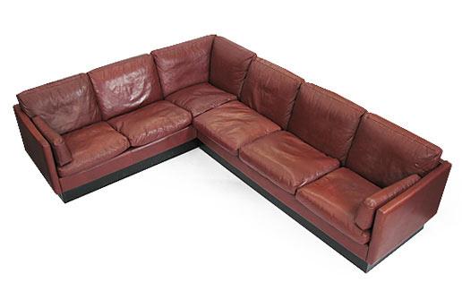 Large Leather - Goose Corner Sofa