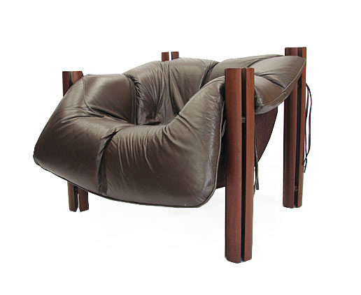 Percival Lafer Chair Orange And Brown