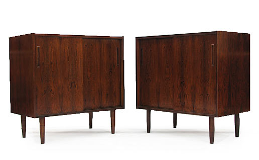 A Pair Of Danish Rosewood Cabinets four