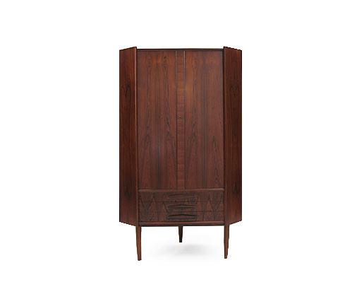 Rosewood Corner Cabinet 1