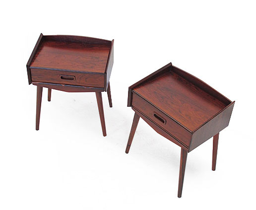 A Pair Of Danish Rosewood Bedside Cabinets