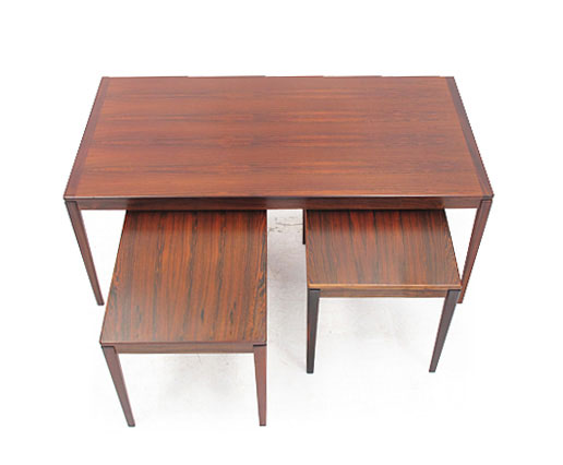 A Nest Of Rosewood Tables