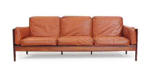 Rosewood - Leather 3 Seat Sofa