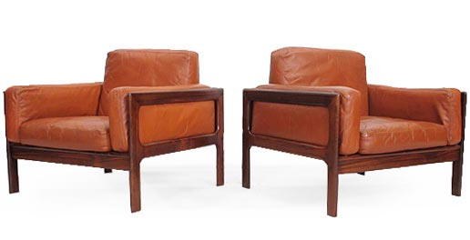 A Pair Of Rosewood Chairs