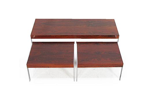 Merrow Rosewood - Chrome Nest Of Tables