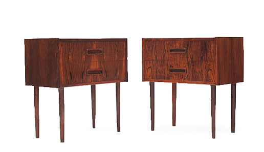 A Pair Of Rosewood Side Cabinets