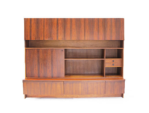 A Large Rosewood Wall Unit