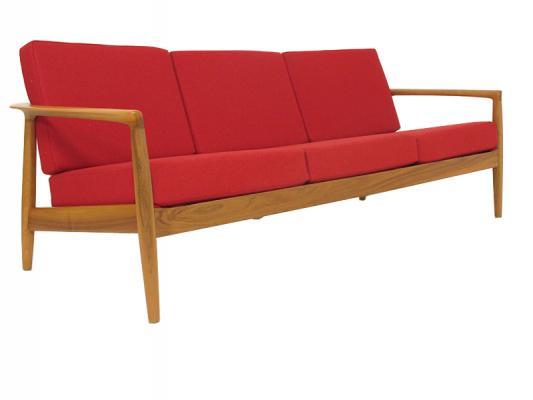 Folke Ohlsson Walnut Sofa