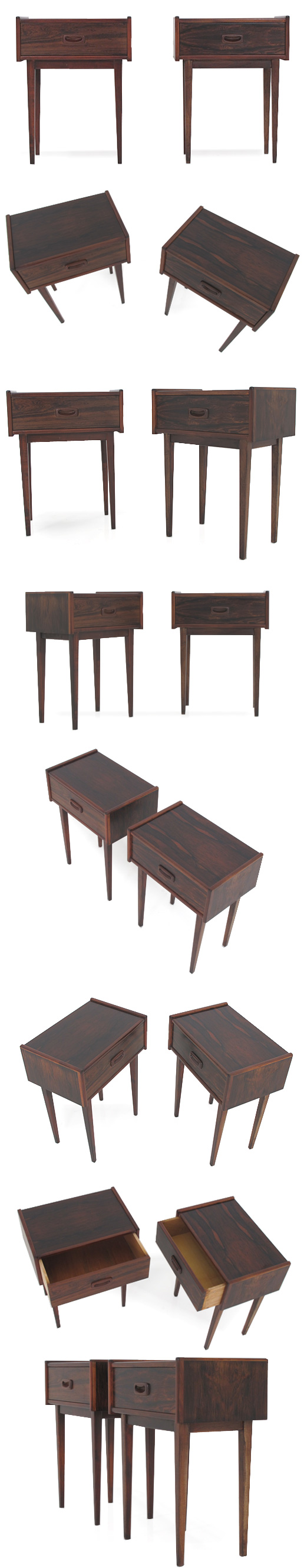 A PAIR OF ROSEWOOD BEDSIDE CABINETS